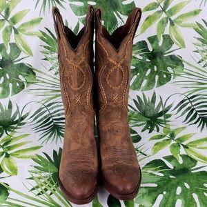 Dan Post ALBANY distressed tan leather boot 9D